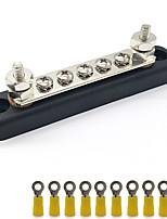Недорогие -Линейная шина постоянного тока AC100A, 5 винтовых клемм, номинальное напряжение максимум 300 В / переменный ток / максимум 48 В / постоянный ток