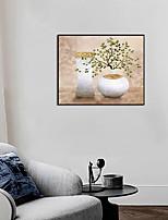 Недорогие -Отпечаток в раме Набор в раме - Натюрморт Цветочные мотивы / ботанический Полистирен Масляные картины Предметы искусства