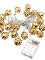 Недорогие -3м золотые кованые гирлянды 20 светодиодов теплый белый / RGB / белый креатив / вечеринка / светодиодный рождественский фонарь / декоративные батарейки AAA 1 комплект