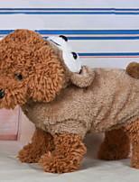 Недорогие -Собаки Инвентарь Одежда для собак Персонажи Черный Оранжевый Желтый Полиэстер Костюм Назначение Зима Праздник Хэллоуин