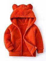 Недорогие -Дети Девочки Классический Однотонный Куртка / пальто Пурпурный