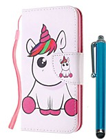cheap -Case For Samsung Galaxy S10 / S10 Plus / S10 E Wallet / Card Holder / with Stand Full Body Cases Pink Unicorn PU Leather / TPU for A71 / A51 / A90 / A80 / A70 / A50 / A30S / Note 10 Plus / J6 Plus
