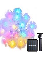 Недорогие -4м гирлянда 20 светодиодных светодиодов теплых белых / многоцветных декоративных солнечных батарей 1шт