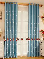 Недорогие -Вышитые рождественские занавески две панели занавески для детской кроватки комната для мальчиков / девочек принц принцесса подарок