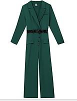 Недорогие -Жен. Черный Военно-зеленный Комбинезоны, Однотонный Кулиска S M L