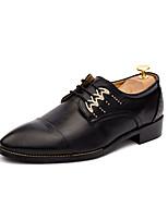 Недорогие -Муж. Комфортная обувь Полиуретан Осень На каждый день Туфли на шнуровке Нескользкий Черный / Белый / Желтый