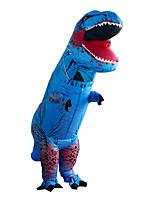 Недорогие -Динозавр Надувной костюм Взрослые Муж. Хэллоуин Хэллоуин Фестиваль / праздник Вискоза / полиэфир Синий Муж. Жен. Карнавальные костюмы / трико / Комбинезон-пижама / Дополнительная батарея коробка
