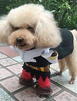 Недорогие -Собаки Костюмы Одежда для собак Контрастных цветов Черный Зеленый Синий Полиэстер Костюм Назначение Зима Праздник Хэллоуин