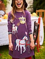 Недорогие -Дети Девочки Мультипликация Платье Лиловый