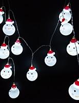 Недорогие -3м струнные светильники 20 светодиодов dip светодиодные теплые белые / белые декоративные USB питание 1шт