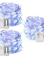 Недорогие -Фея фары с батарейным питанием водонепроницаемый 5 м 50 светодиодные огни строки елки свет теплый белый белый многоцветный свадебные украшения на открытом воздухе с пультом дистанционного управления