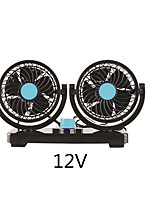 Недорогие -Вентилятор автомобиля Вентилятор кондиционера Авто кулер двойной 360 градусов вращающийся 12 В или 24