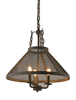 Недорогие -винтажный подвесной светильник традиционный ретро светильник для столовой прихожая проход e12 / e14 3 лампочка в комплект не входит