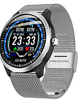 cheap -Smartwatch Digital Modern Style Sporty Silicone 30 m Water Resistant / Waterproof Heart Rate Monitor Bluetooth Digital Casual Outdoor - Black / Gray Yellow Silver / Calendar / date / day / Large Dial
