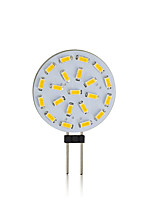 Недорогие -EXUP® 1шт 3 W Двухштырьковые LED лампы 600-700 lm G4 15 Светодиодные бусины SMD 5730 Декоративная Тёплый белый Белый 220-240 V 12 V