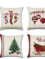 Недорогие -Рождественская наволочка рождественские носки колокольчики дерево диван-кровать мебель для дома наволочка наволочка