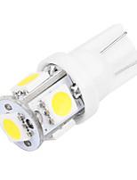 Недорогие -10 шт. T10 Автомобиль Лампы 2.5 W SMD 5050 5 Светодиодная лампа Подсветка для номерного знака / Рабочее освещение / Задний свет Назначение Универсальный Все года