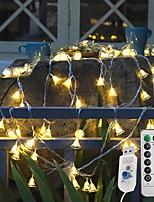 Недорогие -3 м рождественский колокольчик огни 20 светодиодов 13-клавишный пульт дистанционного управления теплый белый творческий / рождественский ночной свет / вечеринка / декоративный / 8режим с питанием от