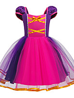 cheap -Rapunzel Dress Masquerade Flower Girl Dress Girls' Movie Cosplay A-Line Slip Cosplay Halloween Purple Dress Halloween Carnival Masquerade Tulle Cotton