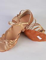 Недорогие -Девочки Танцевальная обувь Свиная кожа Обувь для латины На каблуках Толстая каблук Черный / Черный / Красный / Телесный
