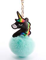 Недорогие -Брелок Голова лошади Шарообразные европейский Милая Мода Модные кольца Бижутерия Черный / Светло-синий / Белый Назначение Повседневные