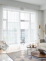 Недорогие -европейский Прозрачный 1 панель Прозрачный Гостиная   Curtains