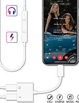 Недорогие -Конвертер 2-в-молнии в двойной разветвитель Аудио наушники Музыка и кабель зарядного устройства для iphone 11/11 pro / 11 pro max / x xs xr / xs max / 7 8 plus
