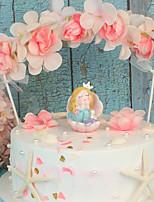 Недорогие -Украшения для торта Сказка Стиль ABS смолы Особые случаи / День рождения с Однотонные 1 pcs Подарочная коробка
