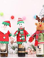 Недорогие -рождественские украшения бутылки вина крышка от бутылки Санта-Клауса / праздничные украшения новый год - случайные отправить
