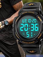Недорогие -Муж. Спортивные часы Японский Кварцевый силиконовый Черный / Красный / Оранжевый 30 m Защита от влаги Повседневные часы Cool Цифровой Классика Новое поступление - Черный Оранжевый Зеленый / Два года