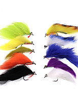 Недорогие -10 pcs Мухи Мухи Тонущие Быстро-тонущие Bass Форель щука Морское рыболовство Ловля нахлыстом Пресноводная рыбалка Металл