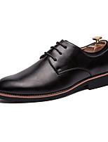 Недорогие -Муж. Кожаные ботинки Полиуретан Осень Деловые Туфли на шнуровке Черный / Белый / Желтый / Для вечеринки / ужина