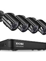Недорогие -ZOSI 1080N HDMI DVR 1280TVL 720 P HD наружная система домашней безопасности камеры 8-канальный видеонаблюдения видеорегистратор комплект TVI комплект камеры