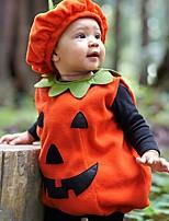 Недорогие -Дети (1-4 лет) Мальчики Классический С принтом Halloween Без рукавов Набор одежды Оранжевый