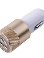 Недорогие -двойной заряжатель металла корабля заряжателя автомобиля usb 3.1a автоматический для умного телефона / таблетки