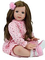 cheap -NPK DOLL Reborn Doll Reborn Toddler Doll Baby Girl 22 inch Safety Gift Cute Kid's Unisex / Girls' Toy Gift