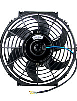 Недорогие -универсальный комплект черный 10-дюймовый тонкий вентилятор двухтактный электрический радиатор охлаждения вентилятора 12 В