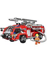 Недорогие -Конструкторы 767 pcs Пожарные машины совместимый Legoing Очаровательный Все Игрушки Подарок
