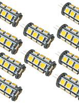 Недорогие -10шт 3.5 Вт светодиодные двухконтактные светильники 350 лм g4 gy6.35 18 светодиодные шарики smd 5050 теплый белый белый 9-30 В
