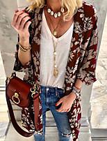 Недорогие -Жен. Блуза Классический Геометрический принт Черный