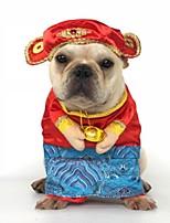 Недорогие -Собаки Костюмы Одежда для собак Контрастных цветов Черный Светло-синий Желтый Полиэстер Костюм Назначение Осень Праздник Хэллоуин