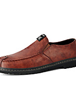cheap -Men's Formal Shoes Nappa Leather Fall & Winter Casual Loafers & Slip-Ons Walking Shoes Breathable Black / Dark Brown