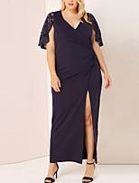 Недорогие -Жен. Классический Оболочка Платье - Однотонный Макси