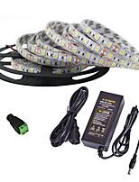 Недорогие -5 метров Гибкие светодиодные ленты / RGB ленты / Пульты управления 300 светодиоды 5050 SMD 1 пульт дистанционного управления 24Keys / 1 адаптер x 12V 2A Разные цвета / Водонепроницаемый / 85-265