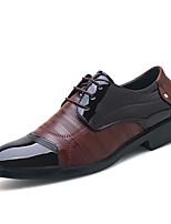 Недорогие -Муж. Официальная обувь Искусственная кожа Весна лето / Наступила зима Деловые / На каждый день Туфли на шнуровке Дышащий Черный / Темно-коричневый