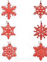 Недорогие -6 шт. / Упак. Деревянные снежинки рождественские подвески украшения для рождественской елки праздничные украшения дома открытый декор дети подарок