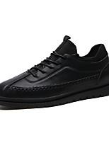 Недорогие -Муж. Комфортная обувь Полиуретан Лето Туфли на шнуровке Черный / Серый