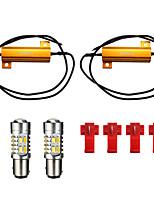Недорогие -5730 1157 светодиодная лампа указателя поворота двухцветная 20-smd резистор обратного переключения