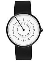 Недорогие -Для пары Нарядные часы Кварцевый Формальный Стильные Искусственная кожа Черный / Белый Повседневные часы Аналоговый Мода - Черный Черно-белый Белый Один год Срок службы батареи / Нержавеющая сталь
