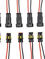 Недорогие -e-ting 5 комплект 2-контактный автомобильный водонепроницаемый электрический разъем с проводом AWG морской